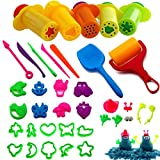 BESTZY Herramientas de Plastilina Inteligentes, 37 Plastico Moldes Juegos de Imitación Juguetes Educativos para Niños