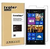 iVoler Panzerglas Schutzfolie für Nokia Lumia 925 [9H Härte] [Anti- Kratzer] [Bläschenfrei] [2.5D Runde Kante]