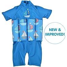 Splash About–Protezione Solare Galleggiante Suit, Bambino, Set Sail Zip, 1-2 anni (petto : 51 cm   lunghezza : 37 cm)