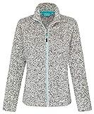 icefeld Damen Fleece Jacke/Fleecejacke, grau meliert in Größe S