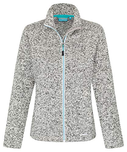 icefeld Damen Fleece Jacke/Fleecejacke, grau meliert in Größe L - Damen Microfleece-jacke Mit Durchgehendem Reißverschluss