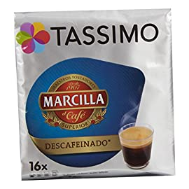 Tassimo T Discs Marcilla Decaf Decaffeinated Espresso Coffee (1 Pack, 16 Discs/Servings)