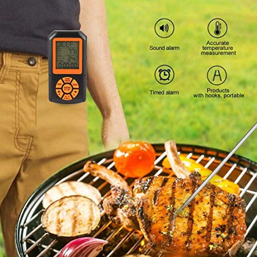 Android Grigliate iPad e Tablet da 0 a 275 Gradi con Timer Megashopitalia Termometro Bluetooth a Sonda Senza Fili per Forno Barbecue App Compatibile con iPhone