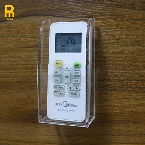 Supporto da parete AC/televisore/riscaldamento-Scatola porta-Storage Telecomando universale, Acrilico, trasparente, (Universale Ac Parete)