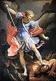 Kunstdruck/Poster: Guido Reni Der Kampf des Erzengels Michael mit dem Satan - hochwertiger Druck, Bild, Kunstposter, 70x100 cm