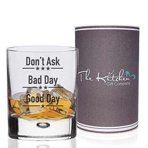 Verres avec inscription Good Day, Bad Day, Don't Ask , verre, transparent, Tumbler