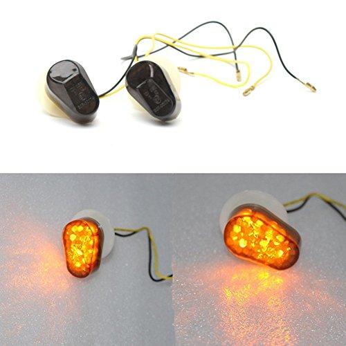 2pz color ambra 12V LED segnale indicatore luce di posizione Lampada faro lampadina per 2002–2008Yamaha R1R6S 030405060708