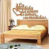 wukongsun Spanisch wandaufkleber wohnkultur Wohnzimmer Vinyl wandaufkleber Keine Liebe wandtattoos...