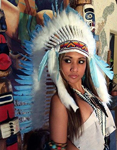 Indian Für Kostüm Erwachsenen Summer - Kenai Federhaube, War Bonnet, Indian Headdress, Coiffe indienne Little Big Horn