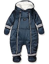 ABSORBA - Combinaison pilote à capuche bleu intérieur fausse fourrure bébé garçon Absorba