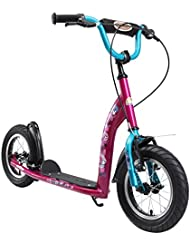 BIKESTAR Roller Kinderroller Tretroller Kickscooter mit Luftreifen für Mädchen ab 6-7 Jahre ★ 12 Zoll Sport Kinder Scooter ★