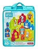 Mega Bloks Mes Animaux à Assembler, briques et jeu de construction, 40 pièces, jouet pour bébé et enfant de 1 à 5 ans, FLT36