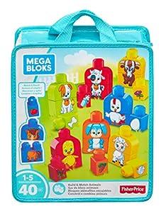 Mega Bloks Bloques animalitos encajables, juguete de construcción para bebé +1 año (Mattel FLT36)
