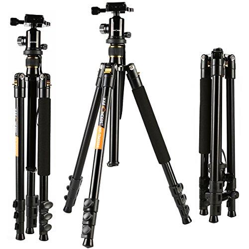 Trpode-KF-Concept-Trpode-para-Cmara-Reflex-TM2324-con-Patas-de-4-Secciones-Incluye-Cabeza-de-Bola-Trpode-Viaje-Universal-para-Panasonic-Canon-Nikon-Sony-GoPro-Fujifilm-Kodak-Cmara-DSLR-y-DV-Altura-411