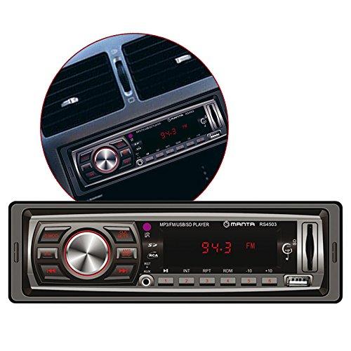 Manta RS4503 - Radio voiture - SD, USB, MP3 - Affichage LED