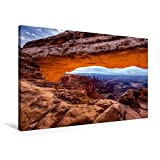 Premium Textil-Leinwand 90 cm x 60 cm quer, Ein Motiv aus dem Kalender National-Parks der USA | Wandbild, Bild auf Keilrahmen, Fertigbild auf echter Leinwand, Leinwanddruck: Mesa Arch (CALVENDO Natur)