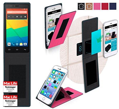 reboon Hülle für BQ Aquaris E4.5 Tasche Cover Case Bumper | Pink | Testsieger