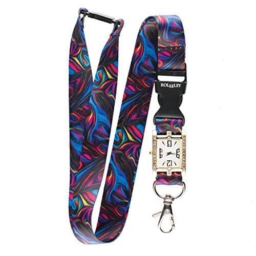 te Kunst Lanyard mit integrierter Taschenuhr Krankenschwester Beautiful Umhängeband/Lanyard Armbanduhr ()