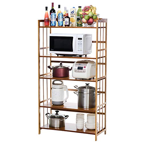 Shelf Kitchen Microwave Stand Storage, 5-Tier-Küchenregal, Workstation-Regal, Mikrowellenofen-Rack-Küchentheke und Schrankregal - Boltless-5 Regal