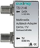 Axing TZU 21-65 Multimedia-Aufsteckadapter Verteiler für Kabelmodem und TV