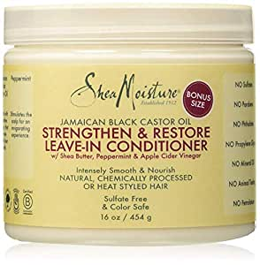 Shea Moisture Jamaican Black Castor Oil Strengthen/Grow and Restore Leave in Conditioner 454gm or 16oz