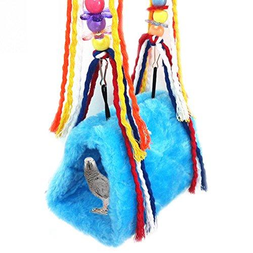 ASOCEA Haustier Vogel Kuscheln Höhle Hängematte Plüsch Spielzeug Käfig hängenden Bett für Papagei Sittich Nymphensittich