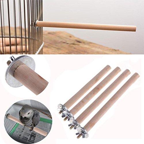 Gaddrt, ramo, posatoio per pappagallo, in legno naturale, giocattolo per gabbia di uccelli, piattaforma giocattolo, di esercizio per uccelli