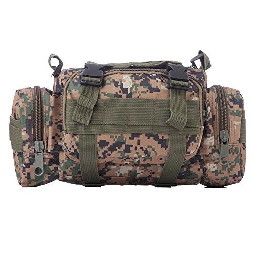 ELEAR® Utility Tactical Bag Marsupio Outdoor Borsa a tracolla Zaino tattici militari Sport all'aperto Campeggio Escursioni fango Jungle digitale