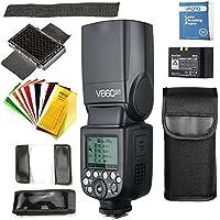 Godox V860II-F Flash Speedlite con Incorporado 2.4G con TTL Flash Automático + Li-on Batería + Flash Difusor Softbox para Fuji DSLR Cámaras X-Pro2/X-T20/X-T2/X-T1/X-Pro1/X-T10/X-E1/X-A3/X100F/X100T (V860II-F)