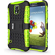 Funda Galaxy S5 NEO , Funda S5, Fetrim Proteccion Cáscara Cases delgada de golpes Doble Capa de Tough Armor Anti-Shock de soporte de Protectora para Samsung Galaxy S5/S5 Neo (Verde)