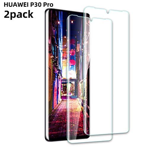 Youer Huawei P30 Pro Verre Trempé, [Lot de 2] Protection d'écran HD [Anti-Rayures] [Ultra Résistant 9H Dureté], Compatible avec Huawei P30 Pro - Transparent
