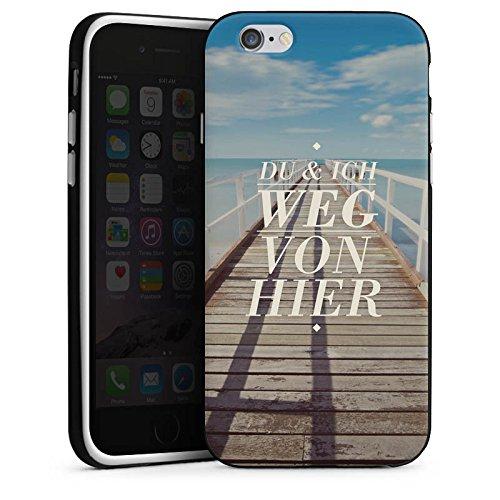 Apple iPhone X Silikon Hülle Case Schutzhülle Leben Reise Sprüche Silikon Case schwarz / weiß