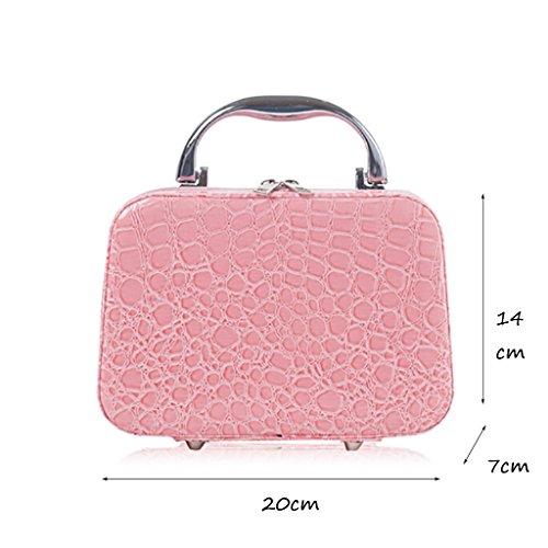 CLOTHES- Sacchetto cosmetico della borsa di trucco della signora sacchetto cosmetico del sacchetto cosmetico di viaggio sacchetto cosmetico di grande capacità ( Colore : Rose red ) Rosa