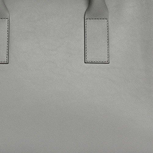 gvyn, Lev Work, Zip Up sac à main (L x H x P) 38x 30x 20CM Grey, Grau
