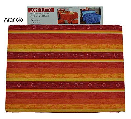 Casa tessile colorado telo arredo copritutto cm 180x280 - arancio