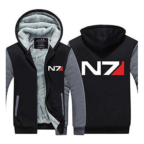 Preisvergleich Produktbild Hoodie Verdickte Kapuzenpullover Winter Jacke Mit Flaum Grau
