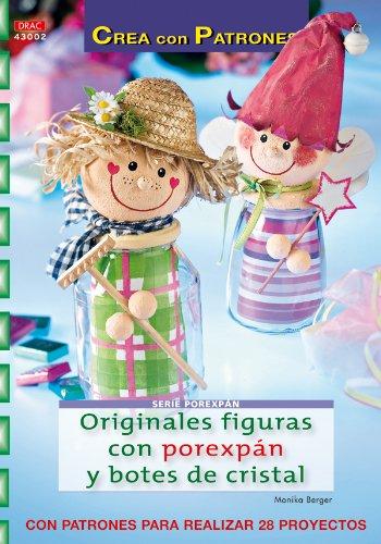 Serie Porexpán nº 2. ORIGINALES FIGURAS CON POREXPÁN Y BOTES DE CRISTAL (Cp- Serie Porexpan (drac)) por Monika Berger