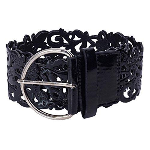 Women's Belt Wide Hollow Buckle Waistband Waist Belt