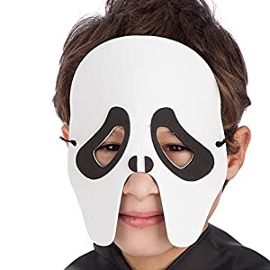 Carnival 00545 Fantasma-Máscara para bebé, EVA, en sobres con tubos de escape