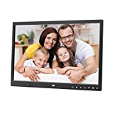 Marco de fotos digital, 15pulgadas HD reproductor de vídeo inductif pantalla multifunción alta resolución marco de fotos digital negro Negro