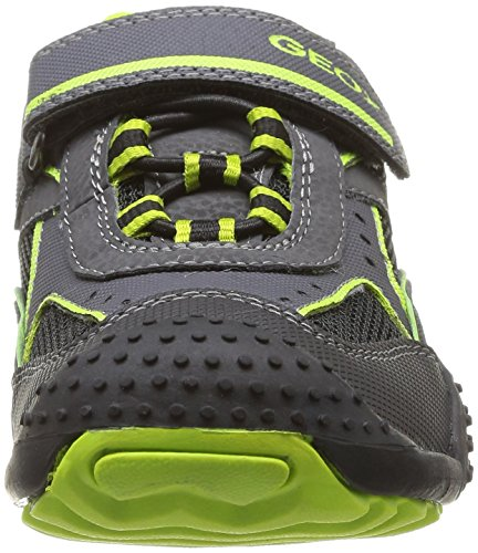 Geox J Marlon A, Baskets mode garçon Noir (Black/Lime)