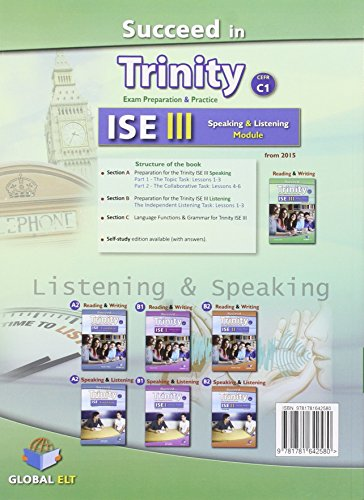 Succeed in Trinity-ISE 3. Listening-speaking. Student's book. Con espansione online. Per le Scuole superiori