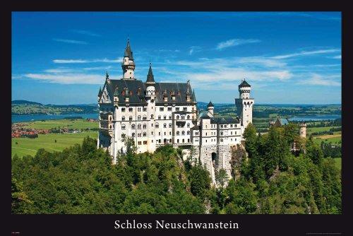 Schloss Neuschwanstein - Poster - Märchenschloss + Ü-Poster (Neuschwanstein Schloss Poster)
