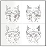 The Kids Room By Stupell DIY Coloring Wall Plaque, Owl With Glasses Four Print