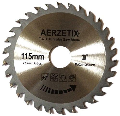 Preisvergleich Produktbild Aerzetix - Scheibe Kreissägeblätter Sägeblatt für Holz 115x22,2 T30 30 Zähne
