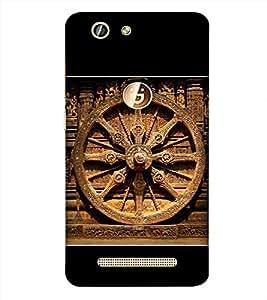 PrintVisa Odissa Konark Wheel 3D Hard Polycarbonate Designer Back Case Cover for Gionee F103 Pro :: Gionee F103Pro