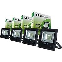4 FOCOS PROYECTORES LED 20W Luz Blanca Fría Nuevo Modelo