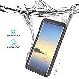 Étui étanche Housse Coque pour Samsung Galaxy Note 8 Outdoor Sport Case Étui de Cellulaire Pleine Sealed IP68 Anti-choc Neige Imperméable Preuve Anti-poussière Waterproof Sous-marine étuis Cover (Noir)