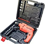 Cheston Powerful 13 mm Impact Drill Machine Cum Screwdriver Kit with Tool Accessories