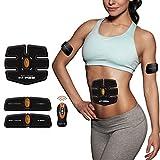 Electroestimulador Masajeador Electrodo Ejercitador del Cuerpo para el Entrenamiento de los Músculos de Brazos, Abdominal y piernas Para Hombre o Mujer